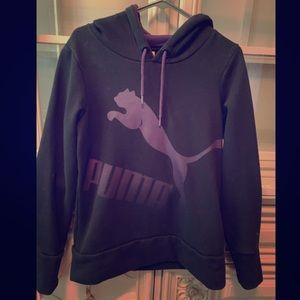 Black and purple Puma hoody